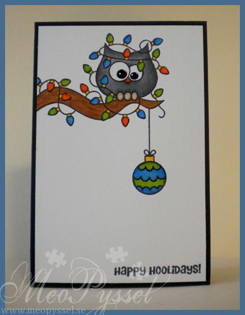 Enkelt julkort med uggla Image